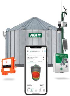 (AGI's SURETRACK bin monitoring system)